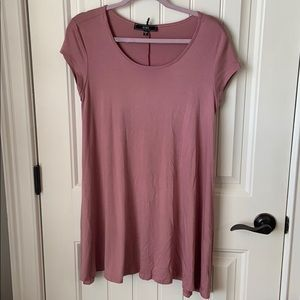 VIBE T-Shirt Dress - Mauve Size Medium